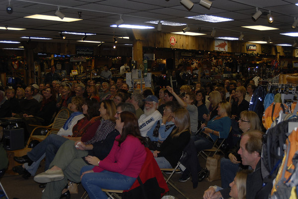 The crowd at the San Diego Adventure 16 store Wednesday night November 18.  115 people were in attendance.